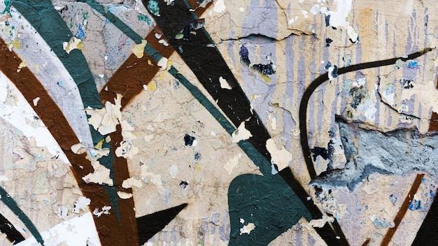 古い汚れた落書きストリートアートの背景
