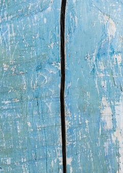 ライトブルー塗装の古い木製の質感