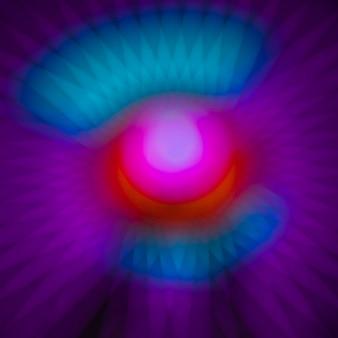 輝くネオン抽象的な冷たい色のライト