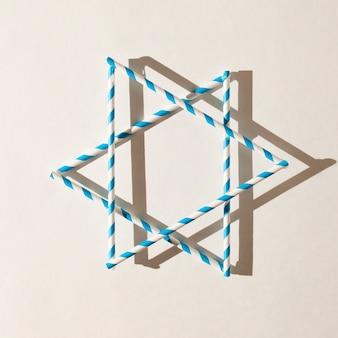 デビッドのクローズアップユダヤ人の星