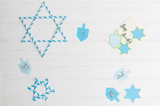 テーブルの上のデビッドの伝統的な星