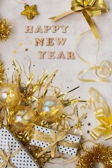 新年の夜のトップビューの準備