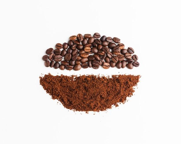 Ассортимент органического жареного кофе