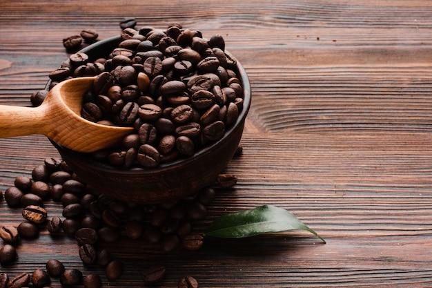 クローズアップローストコーヒー豆