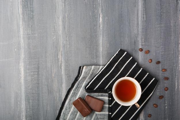 紅茶とチョコレートのコピースペース