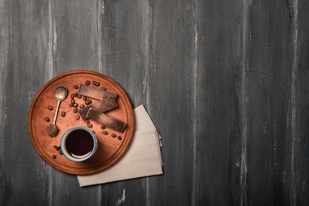 コーヒーとチョコレートコピースペース