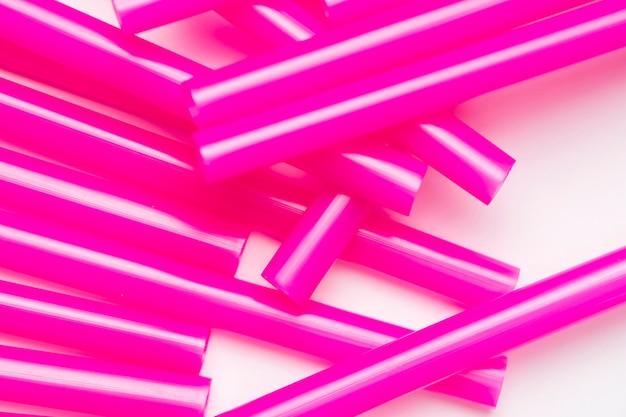 Вид сверху фиолетовая труба для питья