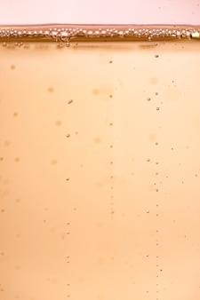 フロントビューの輝きシャンパンの泡