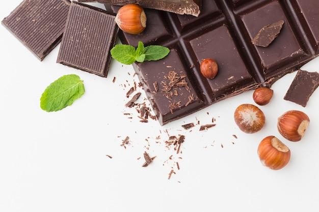おいしいチョコレートのクローズアップ