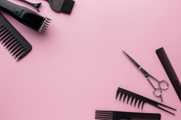 プロのヘア用品フラットレイ