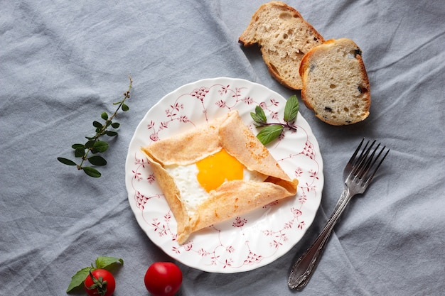 クレープと卵焼き