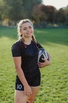 女性のラグビー選手の肖像