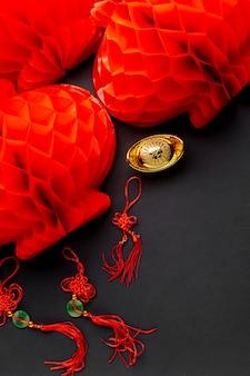 中国の旧正月のランタンとペンダント