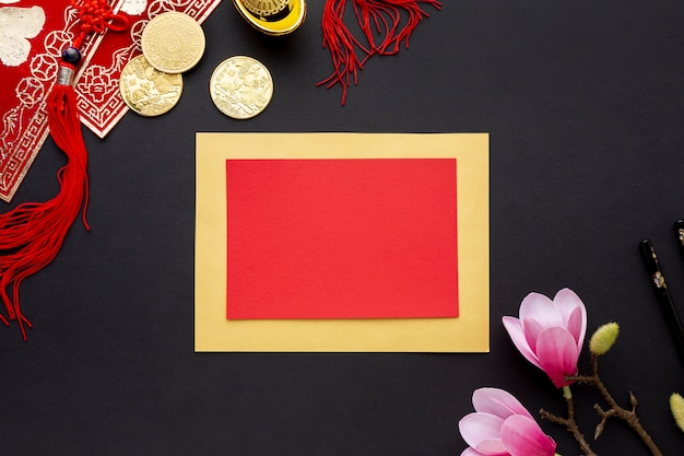 Плоская картотека китайского нового года
