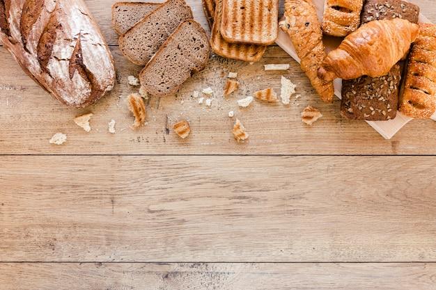 Выпечка и хлеб с копией пространства