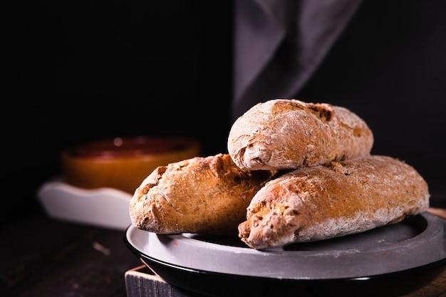 Крупный план вкусного домашнего хлеба