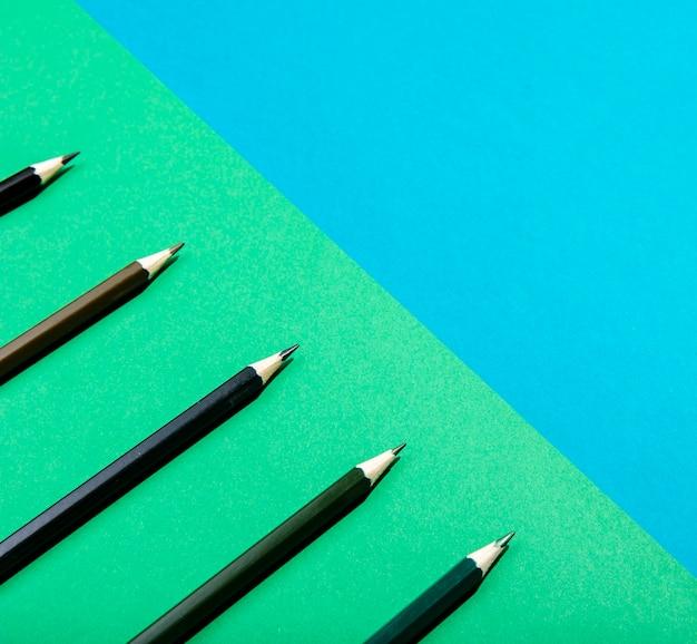 グラデーションブラウンシェード鉛筆クローズアップ