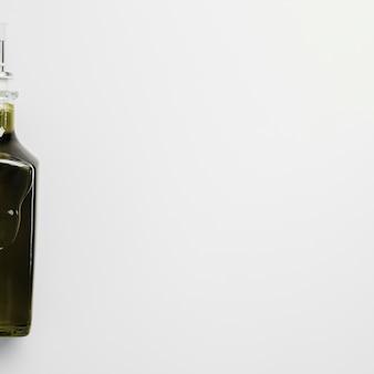 Макро бутылка оливкового масла с копией пространства