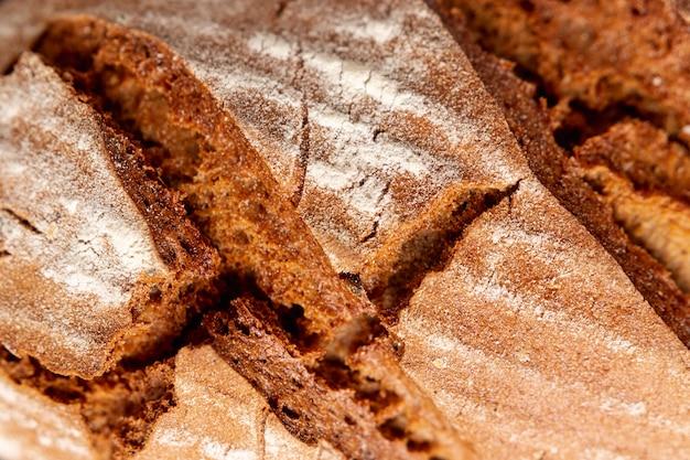 クローズアップの自家製パン