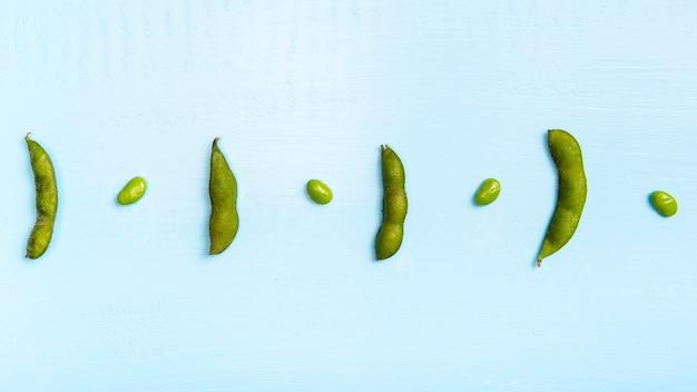 Плоская укладка бобов эдамаме