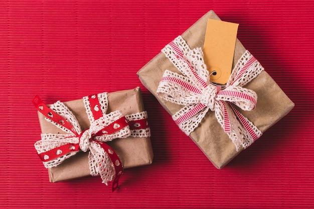 タグ付きプレゼントの平面図