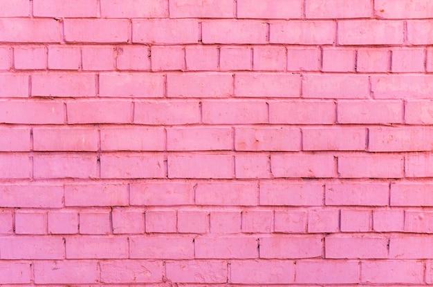 ピンクのレンガの壁の背景
