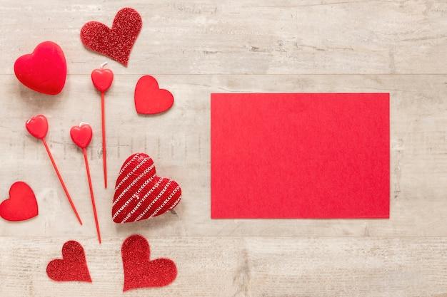 心とバレンタインデーの紙