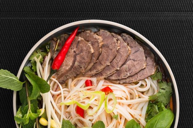 ベトナム料理のクローズアップ