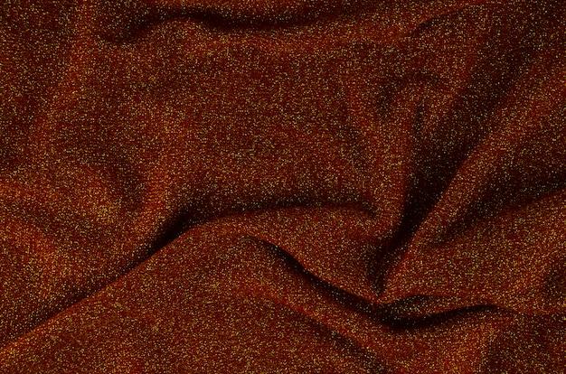 クローズアップの赤い布のテクスチャ素材