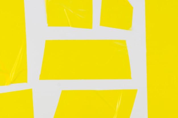 クローズアップの黄色のセロテープ素材