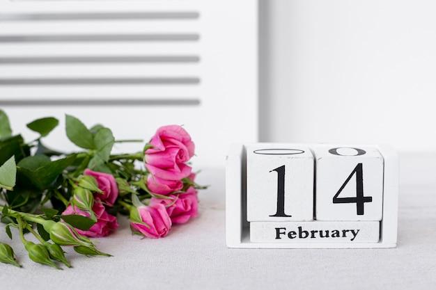バラの花束とバレンタインデー
