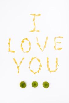 花びらとバレンタインデーのメッセージ