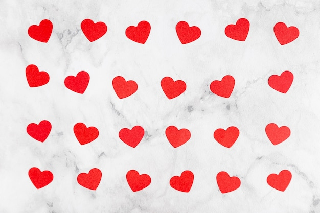 Вид сверху очаровательных сердец
