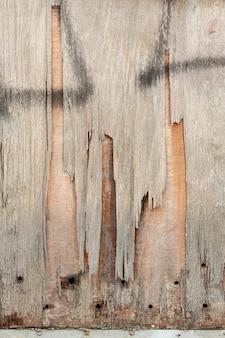 Дробление дерева с отверстиями и аэрозольной краской
