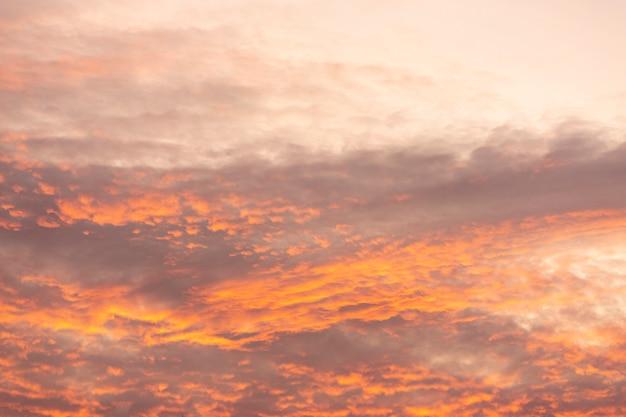 Таинственное закатное небо