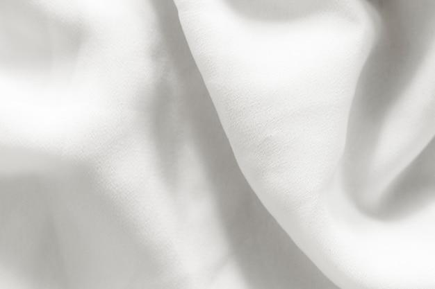 Гладкая элегантная текстура ткани белого цвета