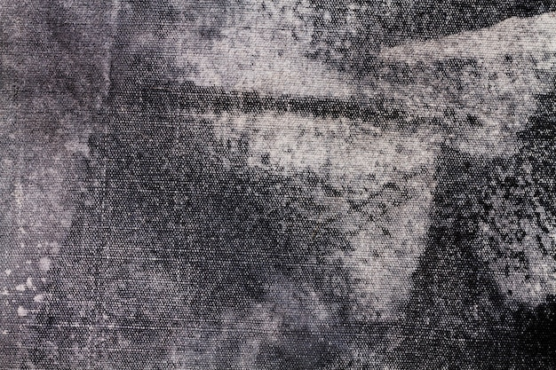 コピースペースを持つ灰色の布テクスチャキャンバス