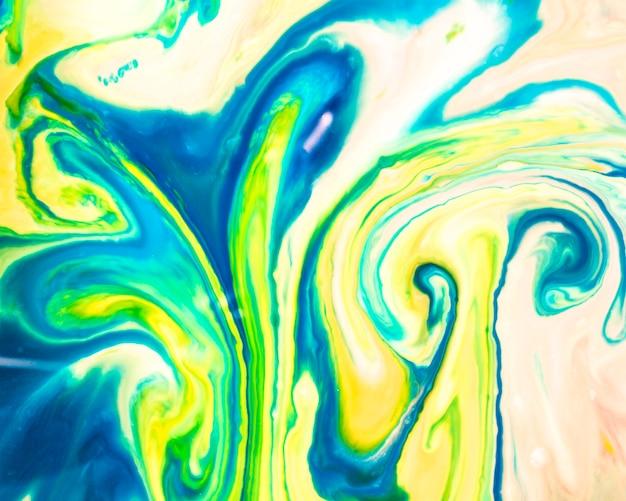 オイルテクスチャのパステルカラーの青と黄色のパレット