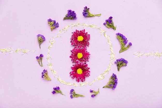 美しい花のフレームコンセプト