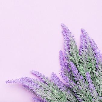 ラベンダーの花のきれいな混合物