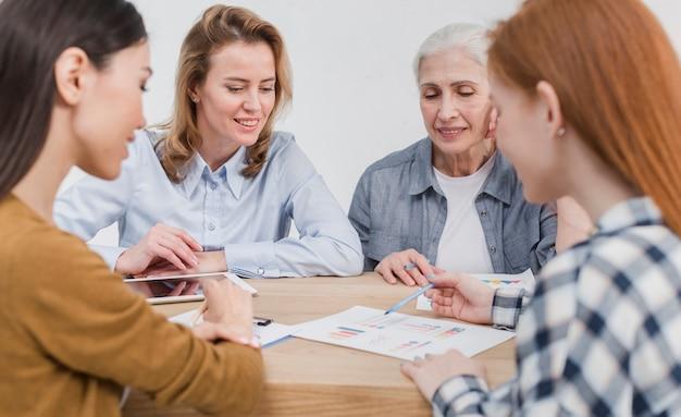 Сообщество женщин, строящих планы вместе