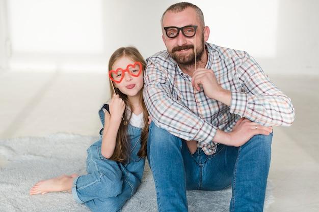 Дочь и папа в день отцов