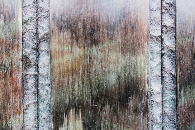 素朴な外観の木製の表面
