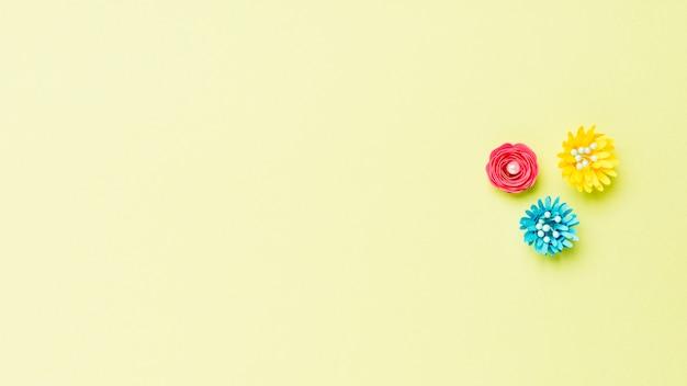春の紙の花のトップビュー