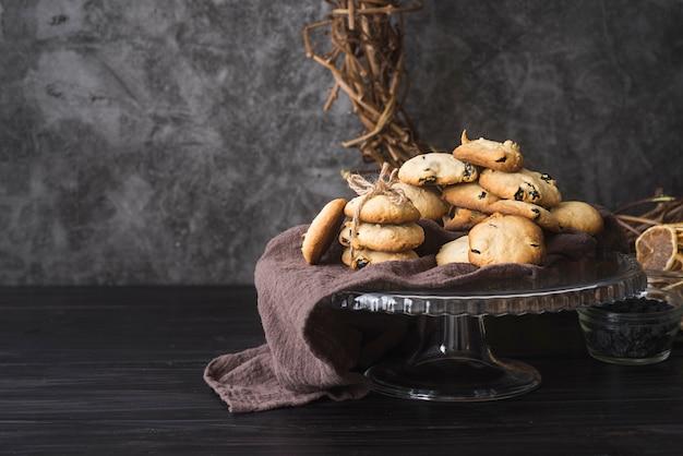 Вид спереди домашнее шоколадное печенье