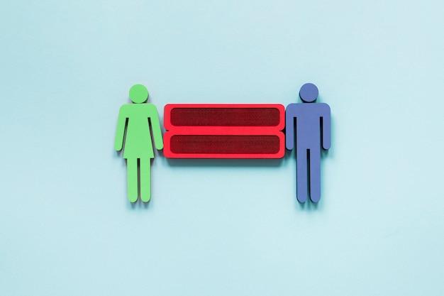 カラフルな平等の権利概念