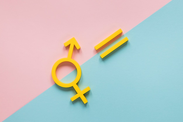 Красочная концепция символов равных прав
