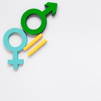 Красочная концепция символа равных прав