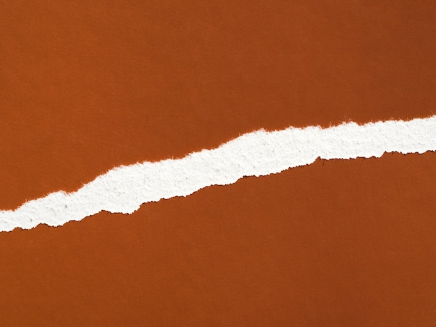 茶色の紙の表面の破れ