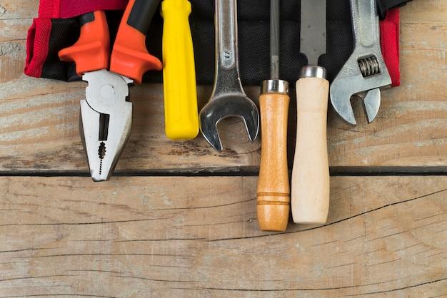 Вид сверху разных типов инструментов